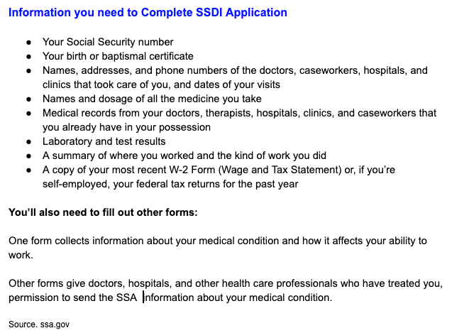 """""""Information you need to apply for SSDI Online and in person"""""""